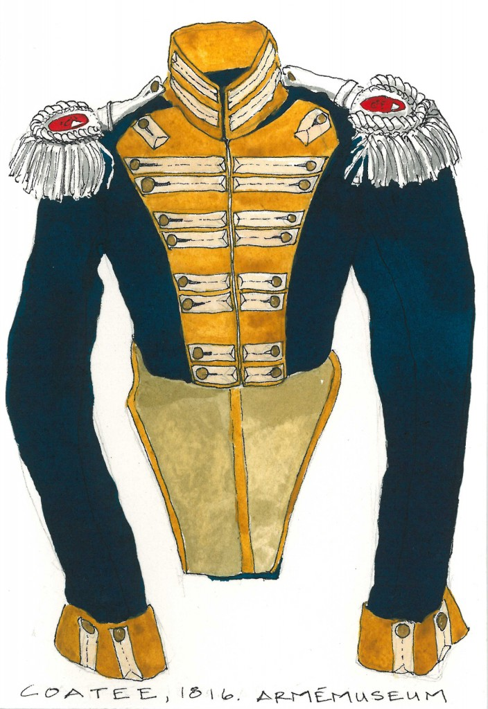 Military jacket w epaulets